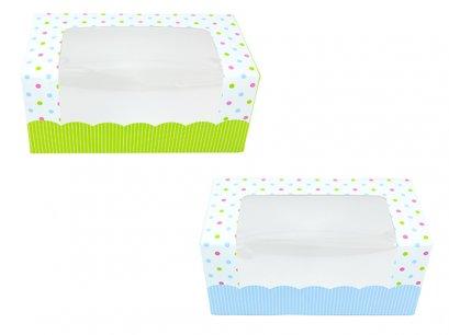 กล่องเค้กโรลพิมพ์ลายจุด ขนาดเล็ก (Roll1)