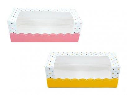 กล่องเค้กโรลพิมพ์ลายหัวใจ ขนาดใหญ่ (Roll2)
