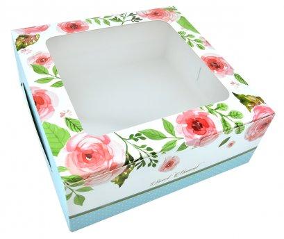 กล่องเค้กทรงมาตรฐาน 1 ปอนด์  ลาย Rosie