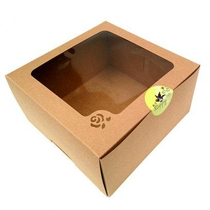 กล่องเค้กคราฟท์  3 ปอนด์ ทรงสูง (KB23)