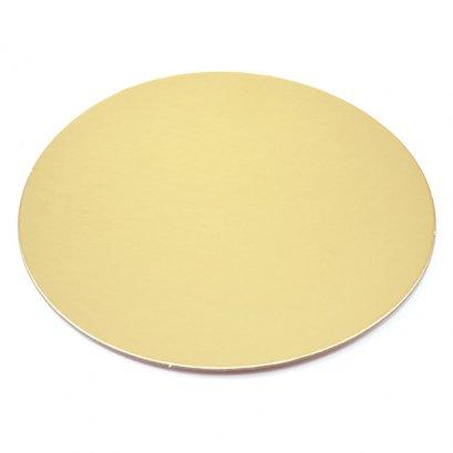 ฐานรองเค้ก 1 ปอนด์ กลม สีทองด้าน