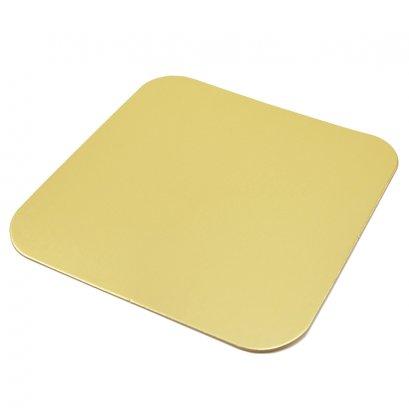 ฐานรองเค้กครึ่งปอนด์ สี่เหลี่ยม สีทองด้าน