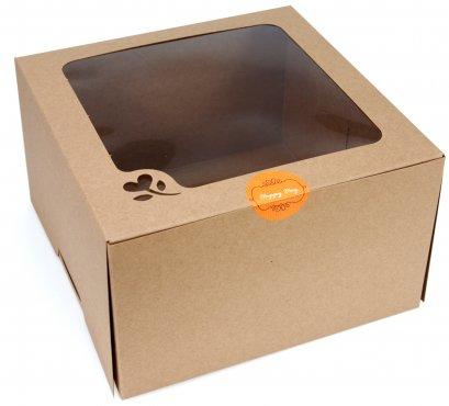 กล่องเค้กคราฟท์ 1 ปอนด์ ทรงสูง (KB15)