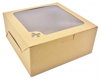 กล่องเค้กคราฟท์  1 ปอนด์  ทรงมาตรฐาน (KB25)