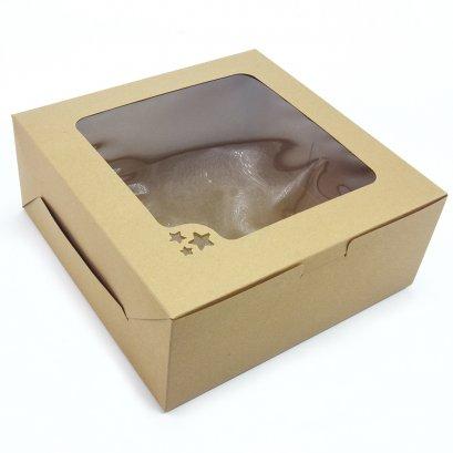 กล่องเค้กคราฟท์ 2 ปอนด์ ทรงมาตรฐาน (KB26)