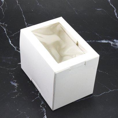 กล่องเค้ก/คัพเค้ก 1 ชิ้น สีขาว WB40