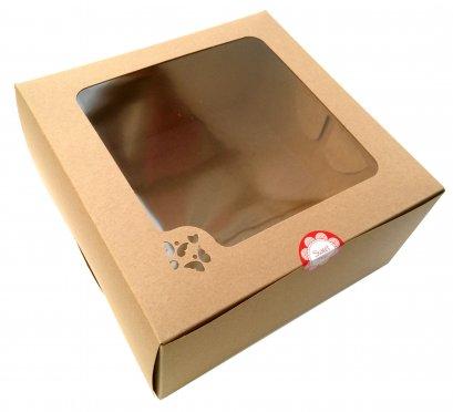 กล่องเค้กคราฟท์ 2 ปอนด์ ทรงสูง (KB10)