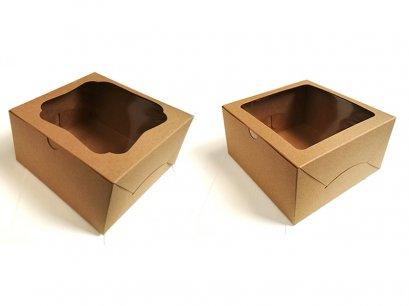 กล่องเค้กคราฟท์ ครึ่งปอนด์  KB11