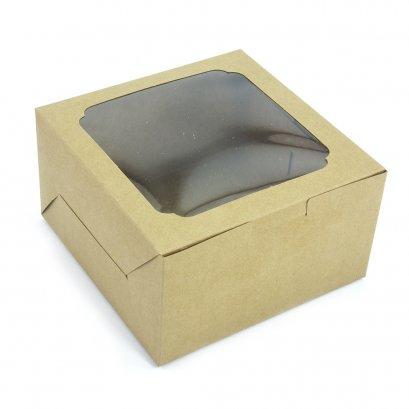 กล่องเค้ก/คัพเค้ก 4  ช่อง KB03
