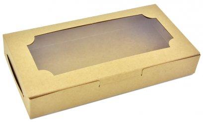 KB30 กล่องเบเกอรี่คราฟท์ กล่องบราวนี่