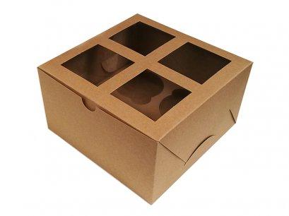 กล่องคัพเค้ก 4  ช่อง KB03