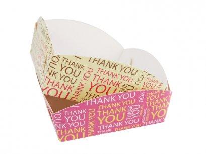 ถาดรองถุงขนม ลาย Thank you  สำหรับถุงจีบ 5 x 8 นิ้ว