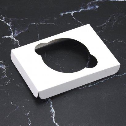 ฐานคัพเค้ก 1 ช่อง สีขาว ขนาด 7.7 x 11.2 ซม. (C-WB40)
