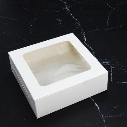 WB46 กล่องเบเกอรี่สีขาว กล่องบราวนี่