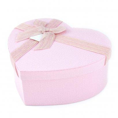 กล่องสำเร็จรูป ทรงหัวใจ สีชมพู (กลาง)