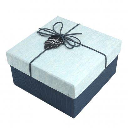 กล่องสำเร็จรูป สี่เหลี่ยมจตุรัส สีฟ้า (เล็ก)