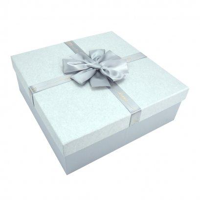 กล่องสำเร็จรูป สี่เหลี่ยม สีเทา Happy (กลาง)