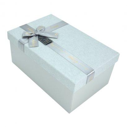 กล่องสำเร็จรูป สี่เหลี่ยมผืนผ้า สีเทา For You (ใหญ่)
