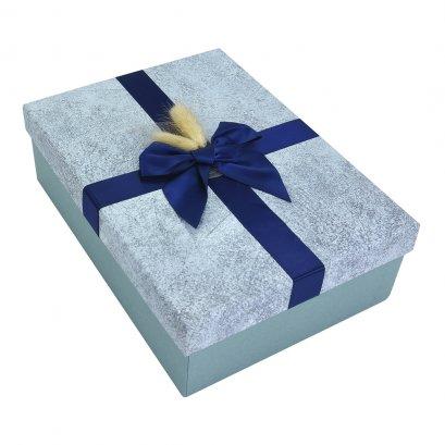กล่องสำเร็จรูป สี่เหลี่ยมผืนผ้า สีน้ำเงิน (ใหญ่)