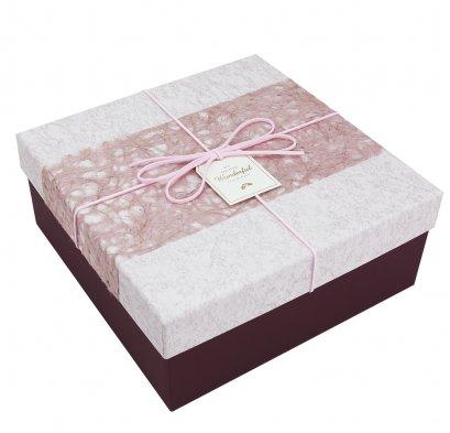 กล่องสำเร็จรูป Wonderful สีชมพู (กลาง)