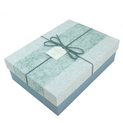 กล่องสำเร็จรูป สี่เหลี่ยมผืนผ้า Wonderful สีฟ้า (เล็ก)