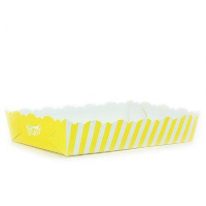 ถาดขนมลายYummy  สีเหลือง