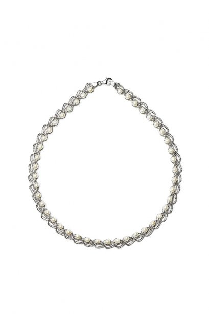 Lace Pearl Choker Necklace