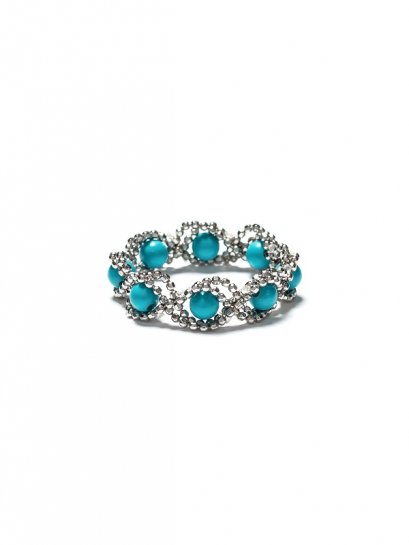Wave Turquoise Silver Ring
