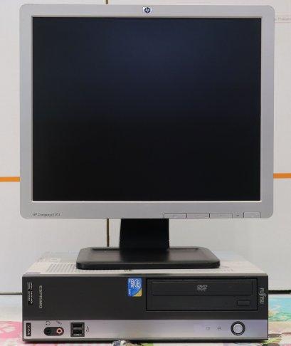 คอมตั้งโต๊ะ Fujitsu ครบชุดพร้อมจอ 17นิ้ว