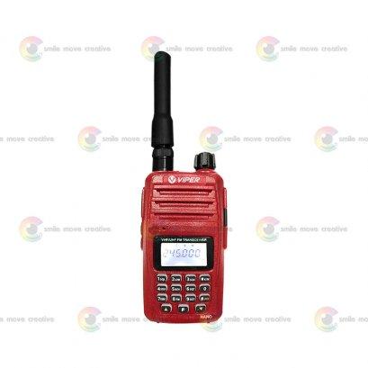 VIPER NANO วิทยุสื่อสารเครื่องเล็ก แรง 5 วัตต์ สีแดง WALKIE TALKIE