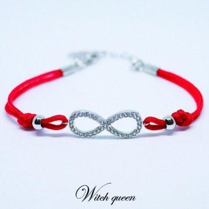 Infinity bracelet (red)