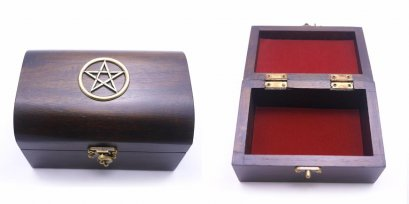 The Wooden boxes with Pentacle