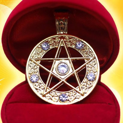 Pendant of Pentacle Coated with gold