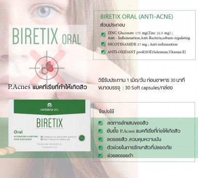 Biretix Oral ยากินรักษาสิวจากสเปน