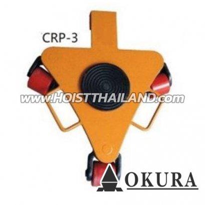 เต่าลากเครื่องจักรล้อโพลียูริเทน CARGO TROLLEY OK-CRP-3