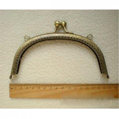 ปากกระเป๋าป๊อกแป๊ก สีบรอนซ์ปากกว้าง 16.5 ซม.