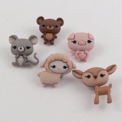 กระดุม Animal Cuties ของ Dress It Up ราคา/แพ็ค