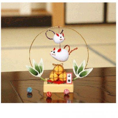 ชุดอุปกรณ์ตุ๊กตาโมบายหนู ผ้าญี่ปุ่น ขนาด 15*7*15 cm.