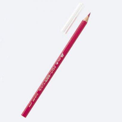 ดินสอลอกลายลงบนผ้า โดยใช้วิธีรีด (สีแดง)