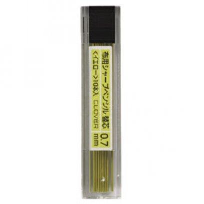 CLOVER ไส้ดินสอกดเขียนผ้า สีเหลือง 0.7 มม. 10 แท่ง กล่องละ