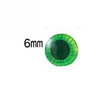 ตาตุ๊กตา สีเขียว ขนาด 6 มม. ราคาต่อคู่