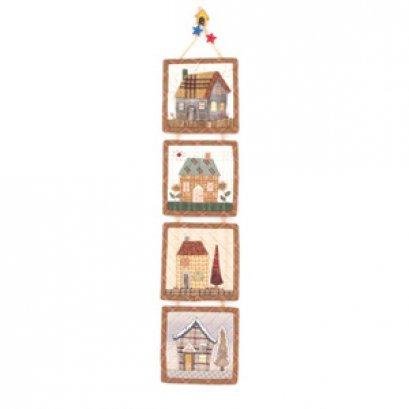 ชุดอุปกรณ์พร้อมเย็บภาพแขวนรูปบ้าน By Reiko Kato ขนาดสำเร็จ 11*11 cm.(ต่อรูป)