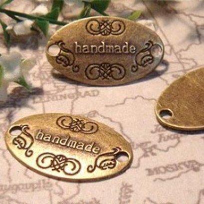 ป้ายทองเหลือง Handmade ขนาด 3*2 cm. ราคาอันละ