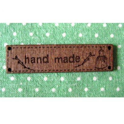 ป้ายไม้ Handmade ลายชุดเดรส ขนาด 6.4*1.6 cm. ราคาอันละ
