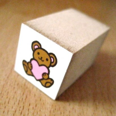 Mini Stamp รูปหมี ขนาด 1.8*1.8 cm.