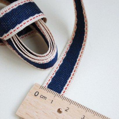 ผ้าปักโทนน้ำเงิน  ข นาด   1.5 cm. ราคา/หลา