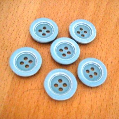 กระดุมพลาสติก ขนาด 1.5 cm. 6 เม็ด/แพ็ค