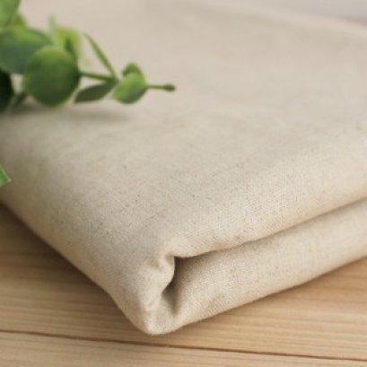 ผ้า Cotton Linen สีพื้นธรรมชาติ เนื้อดี  ขนาด 1/4 หลา (45*55 cm.)