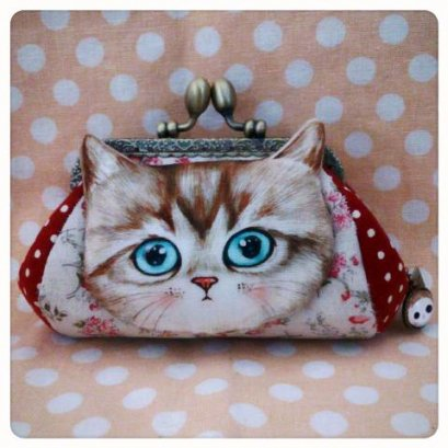 Cat Pikpak ขนาดกระทัดรัด ขนาดปากกระเป๋า 10 cm. (กระเป๋าสำเร็จ)