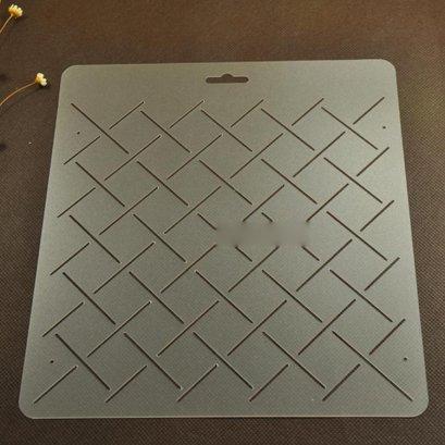 เทมเพลทสำหรับ Quilt แบบใส ช่องห่าง 2.5 cm.ขนาดทั้งแผ่น 20 x 21cm.